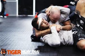 Pane Haraki during MMA tryouts at Tiger Muay Thai