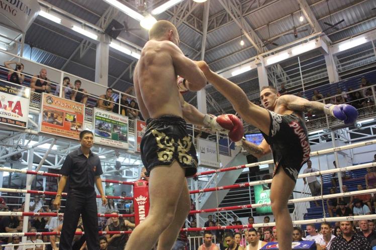 Muay Thai fighter Pane Haraki in Phuket's Bangla Stadium