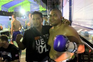 Sobek Semper at Queen's Birthday Muay Thai fights in Bangkok 2013